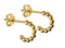 Beginnings Sterling Silver Ladies' Gold Plated Silver Small Ball 3/4 Open Hoop Earrings