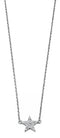 Beginnings Sterling Silver Pave Cubic Zirconia Star Necklace, Length 41cm Plus 3cm Extender