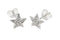 Beginnings Sterling Silver Pave Cubic Zirconia Stud Earrings