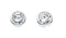 Beginnings Sterling Silver Cubic Zirconia Single Stone Stud Earrings