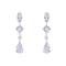 Loverocks CZ Square, Pear, Marquise Drop Earring