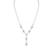 Loverocks CZ Square Pear Marquise Y Necklace