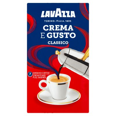 Lavazza crema e gusto ground coffee 250g