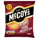 McCoy's Flame Grilled Steak Flavour Ridge Cut Potato Crisps 65g