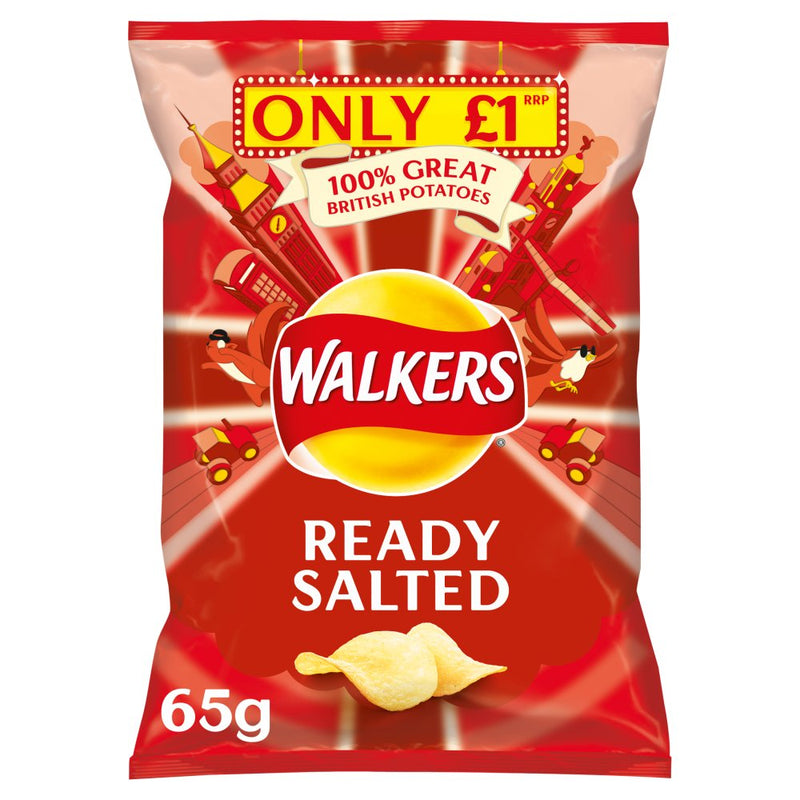 Walkers Ready Salted Crisps 65g
