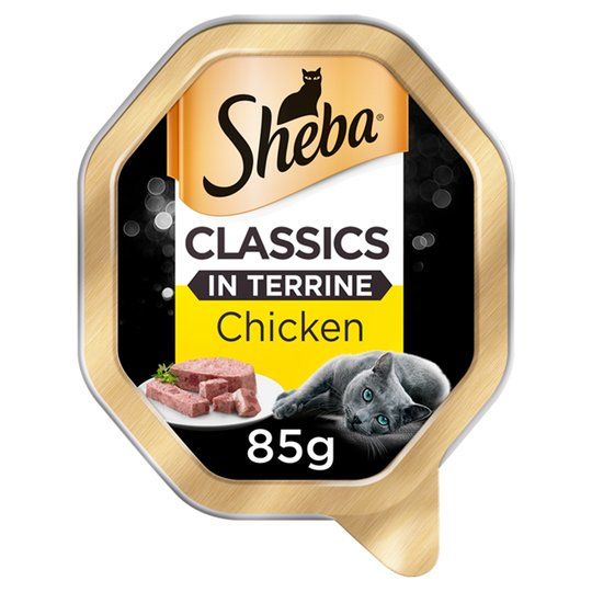 Sheba Classics Wet Cat Food Tray with Chicken in Terrine 85g