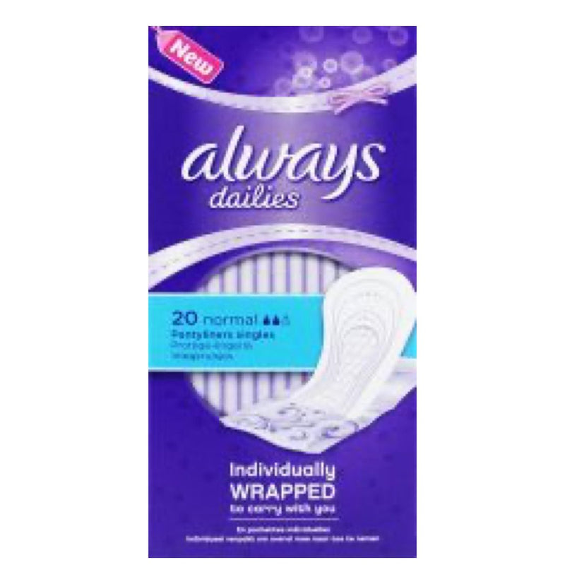 Always Dailies Panty Liners Normal 20's