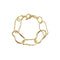 Loverocks Abstract T Bar Bracelet Gold