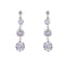 Loverocks Four CZ Stone Drop Earring