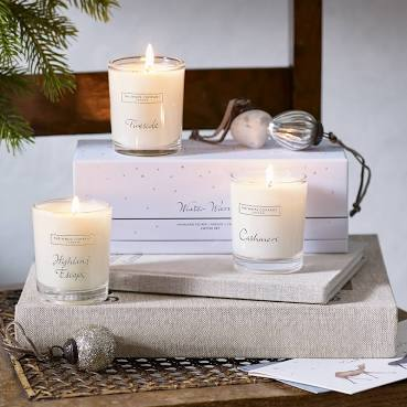 The White Company- Christmas Votive Trio Set