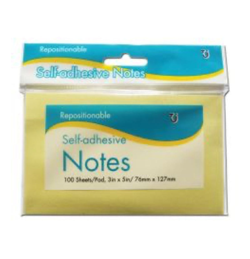 Sticky Notes 100 Sheets 76mm x 127mm Hang Pack