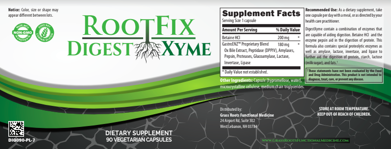 RootFix DigestXyme - GrassRoots Functional Medicine Store