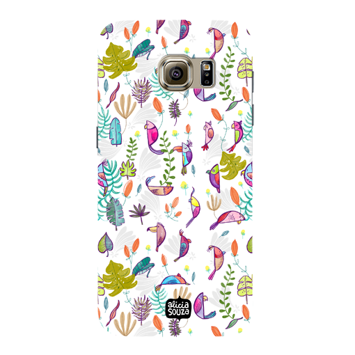Parrots and Peace White - Samsung Galaxy S7 Phone Cover