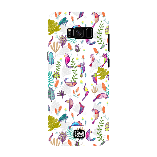 Parrots and Peace White - Samsung Galaxy S8 Phone Cover