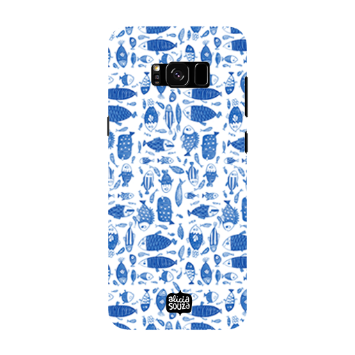 China Blue Fish - Samsung Galaxy S8 Phone Cover