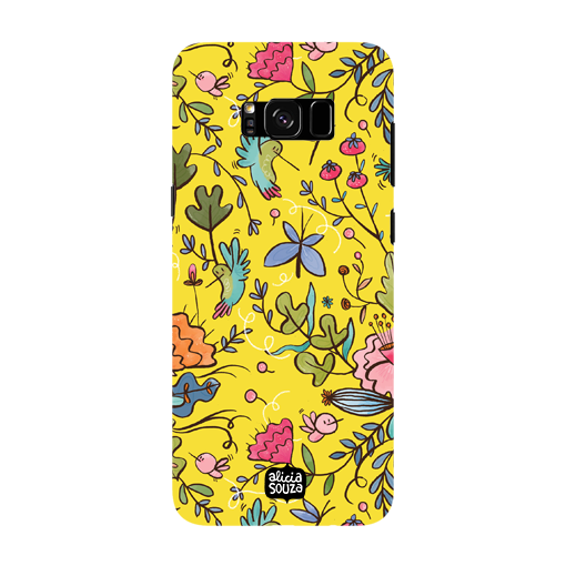 Humming Bird Yellow - Samsung Galaxy S8 Phone Cover