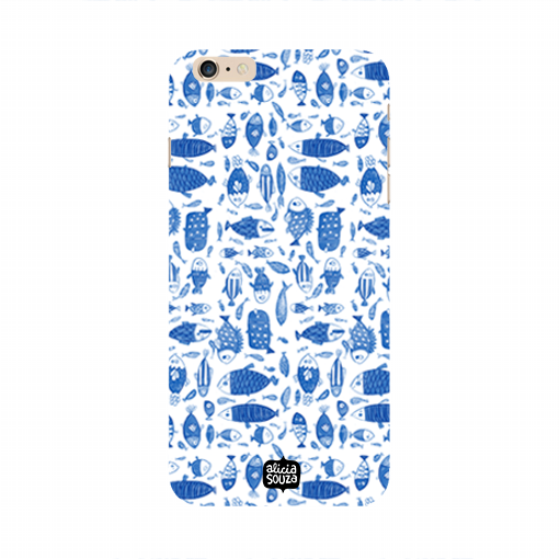 China Blue Fish - iPhone 6 / 6s Phone Cover