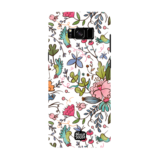 Humming Bird White - Samsung Galaxy S8 Phone Cover
