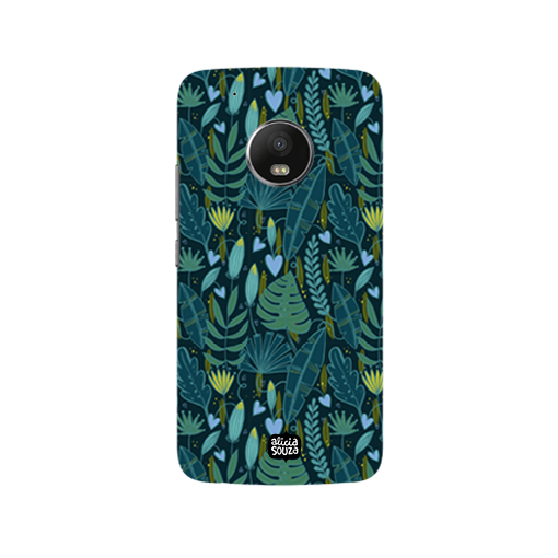 Green Leaves - Moto G5 Plus Phone Cover