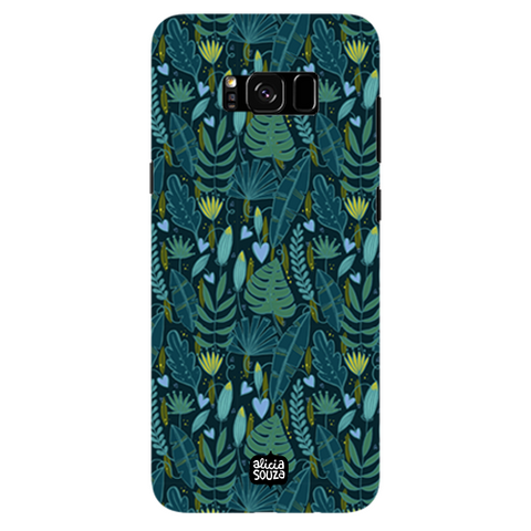 Green Leaves - Samsung Galaxy S8 Plus Phone Cover