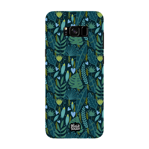 Green Leaves - Samsung Galaxy S8 Phone Cover
