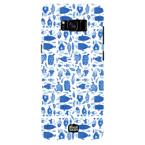 China Blue Fish - Samsung Galaxy S8 Plus Phone Cover