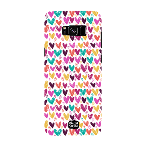 Hearts - Samsung Galaxy S8 Phone Cover