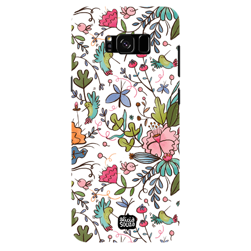 Humming Bird White - Samsung Galaxy S8 Plus Phone Cover