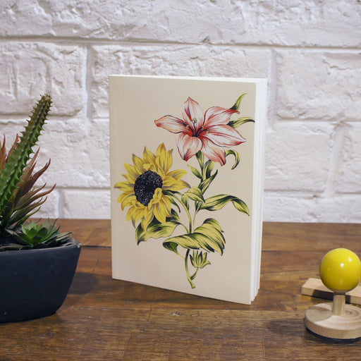 Notebook | sunflower and lily - TheInkBucketstore