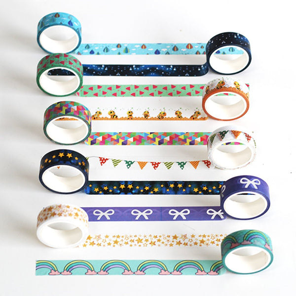 Pack of 10 Washi Tapes