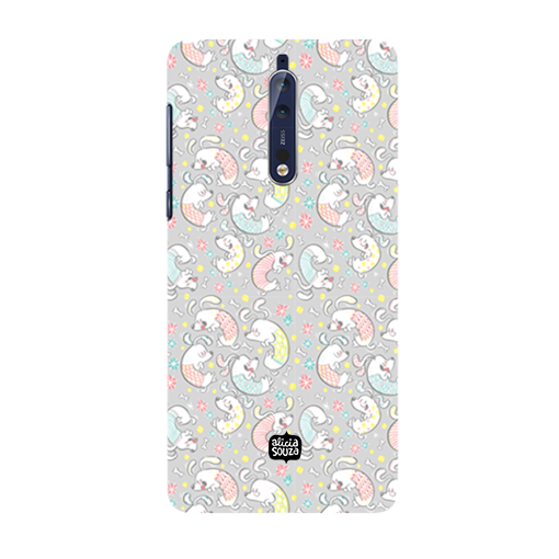 Curly Dog - Nokia 8 Phone Cover