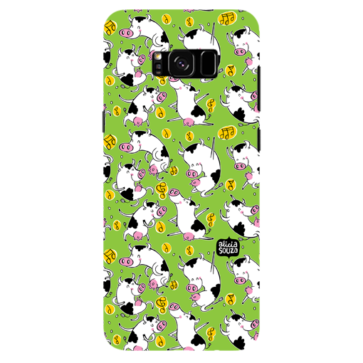 Dancing Cow - Samsung Galaxy S8 Plus Phone Cover