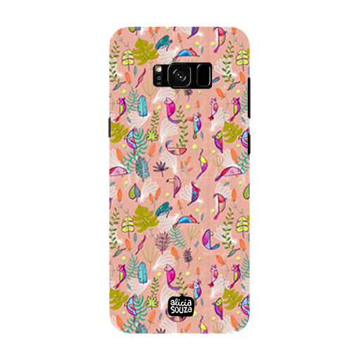 Parrots and Peace Pink - Samsung Galaxy S8 Phone Cover