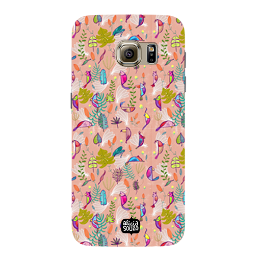 Parrots and Peace Pink - Samsung Galaxy S7 Phone Cover