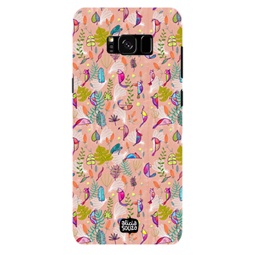 Parrots and Peace Pink - Samsung Galaxy S8 Plus Phone Cover