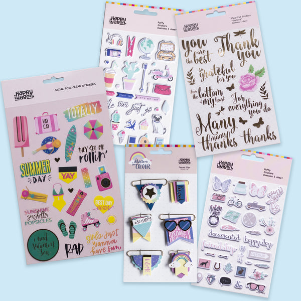 Stickers & Journal Clips Pack