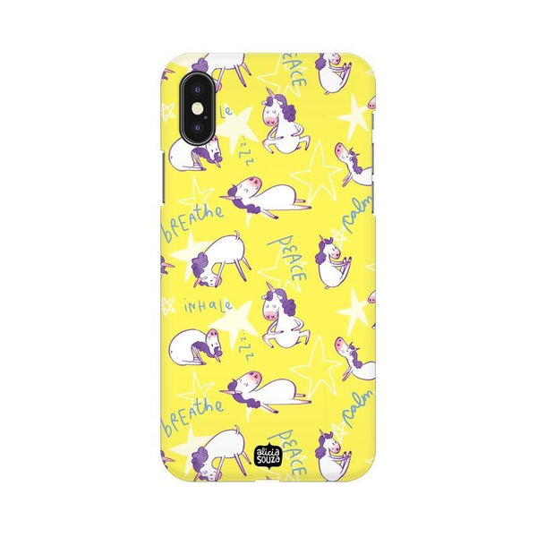 Yoga Unicorn - iPhone X Phone Cover