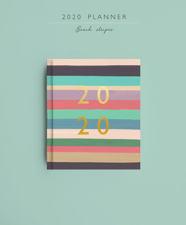 2020 Planner | Beach Stripes | Pre-Order - TheInkBucketstore