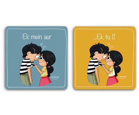 Ek Mein Aur Ek Tu - Set of 2 Coasters