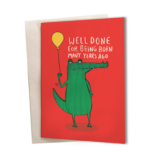 Birthday Card - Well Done Greeting Card