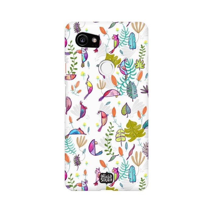 Parrots and Peace White - Google Pixel XL 2 Phone Cover