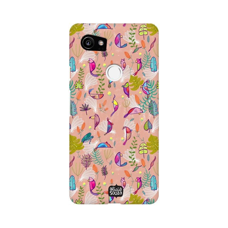 Parrots and Peace Pink - Google Pixel XL Phone Cover
