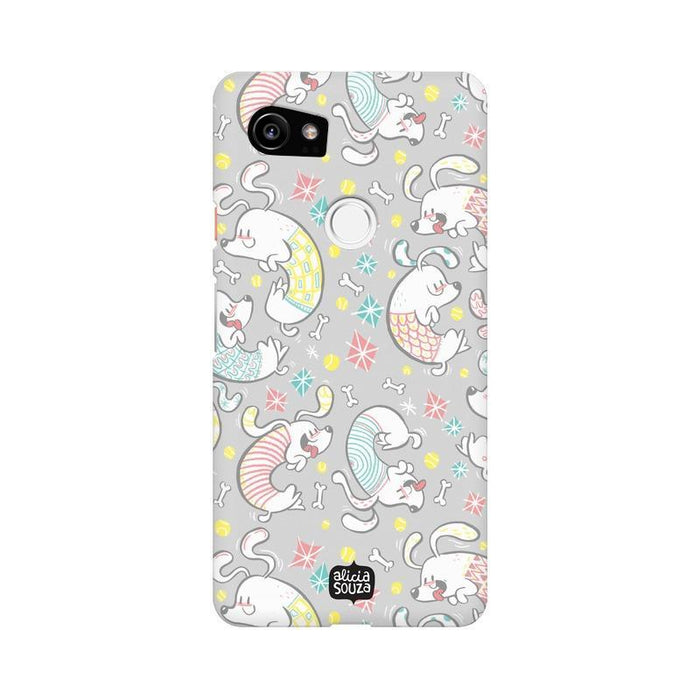 Curly Dog - Google Pixel XL 2 Phone Cover