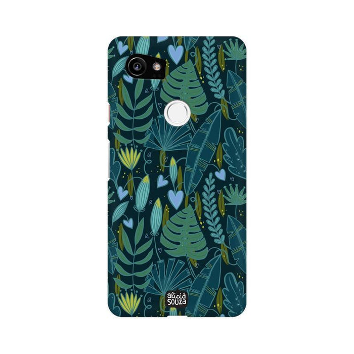 Green Leaves - Google Pixel XL 2 Phone Cover