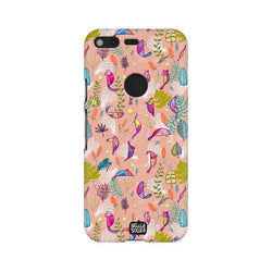 Parrots and Peace Pink - Google Pixel XL 2 Phone Cover