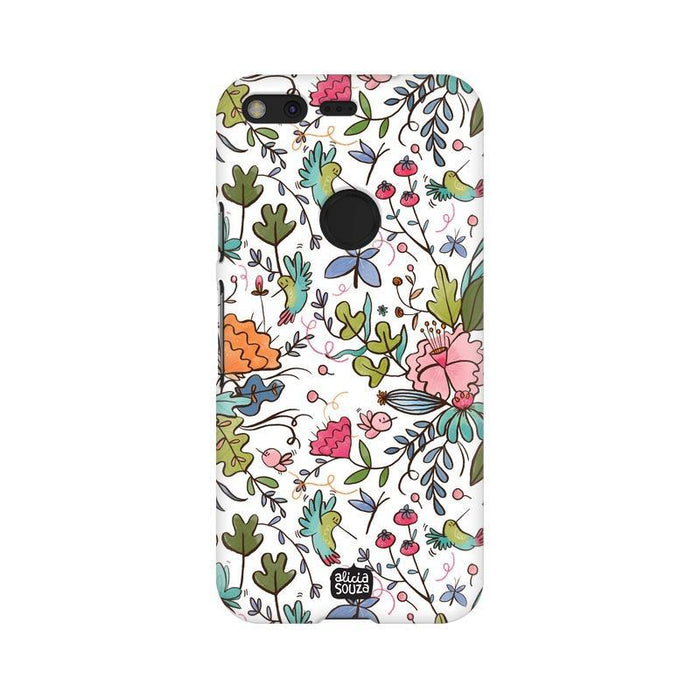 Humming Bird White - Google Pixel XL Phone Cover