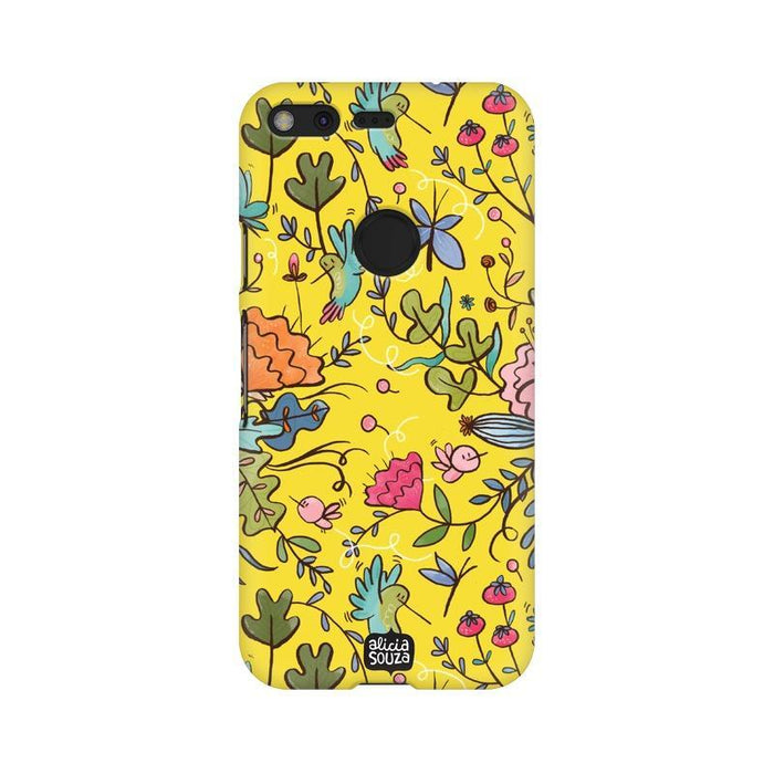 Humming Bird Yellow - Google Pixel XL Phone Cover