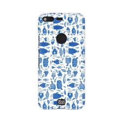 China Blue Fish - Google Pixel XL Phone Cover