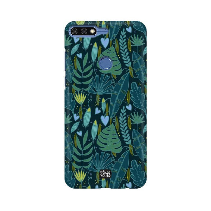 Green Leaves - Honor 7c Phone Cover