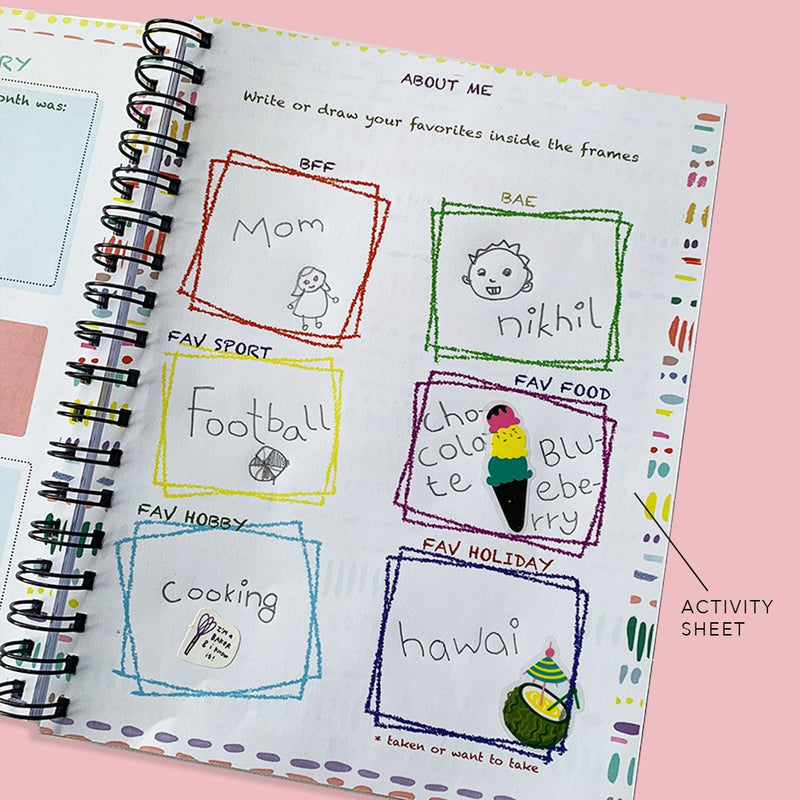 Custom Name Garden Kids Planner